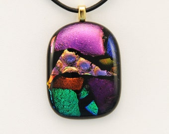 Fused Dichroic Glass Pendant (No. 13-101)
