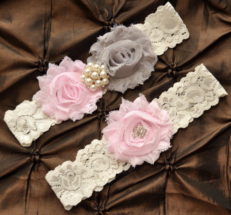 Wedding Garter Pictures: Wedding Garter Bridal Garter Set Ivory Lace Garter
