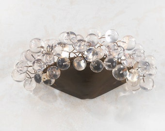 Wall lighting lamp - Sconce up light, transparent clear balls