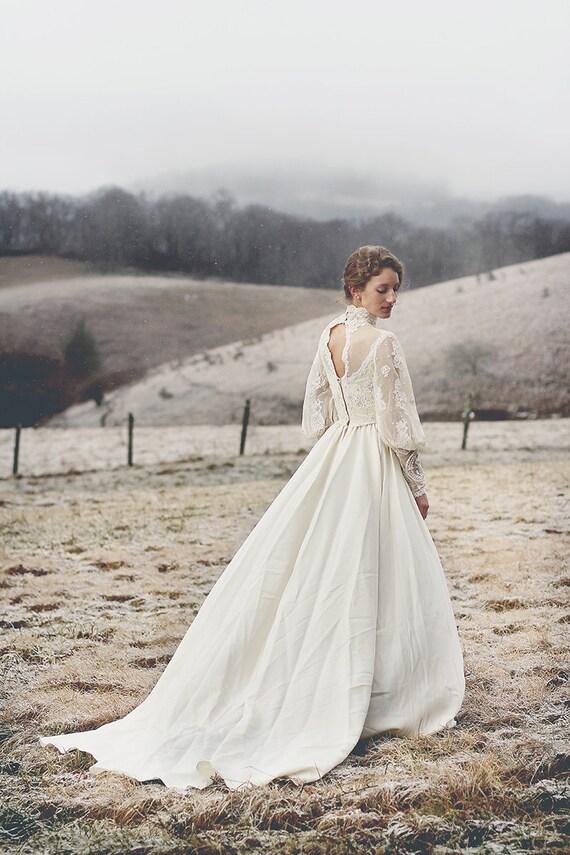 RESERVED FOR RICA Vintage 1970's Boho Anne of Green Gables Inspired Wedding Dress