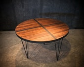 Sale 40% OFF! LAST ONE! Rustic Industrial Round Dining Table - Handcrafted from Reclaimed Wood