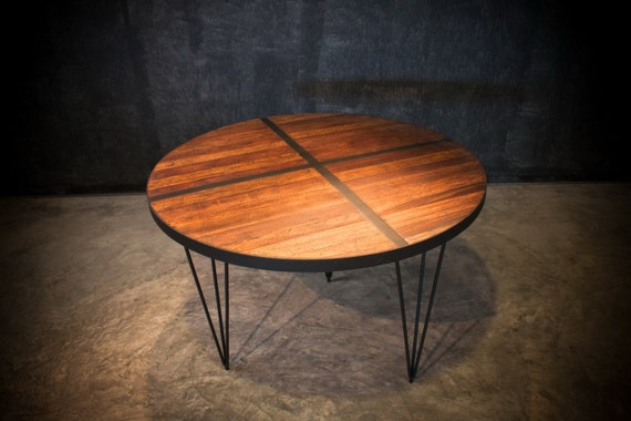 Sale 40% OFF LAST ONE Rustic Industrial Round Dining Table