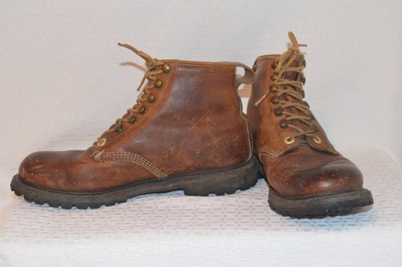 Excellent Vintage 70s SEARS Suede LEATHER Mountaineering HIKING BOOTS Womens 8B 38.5 | EBay