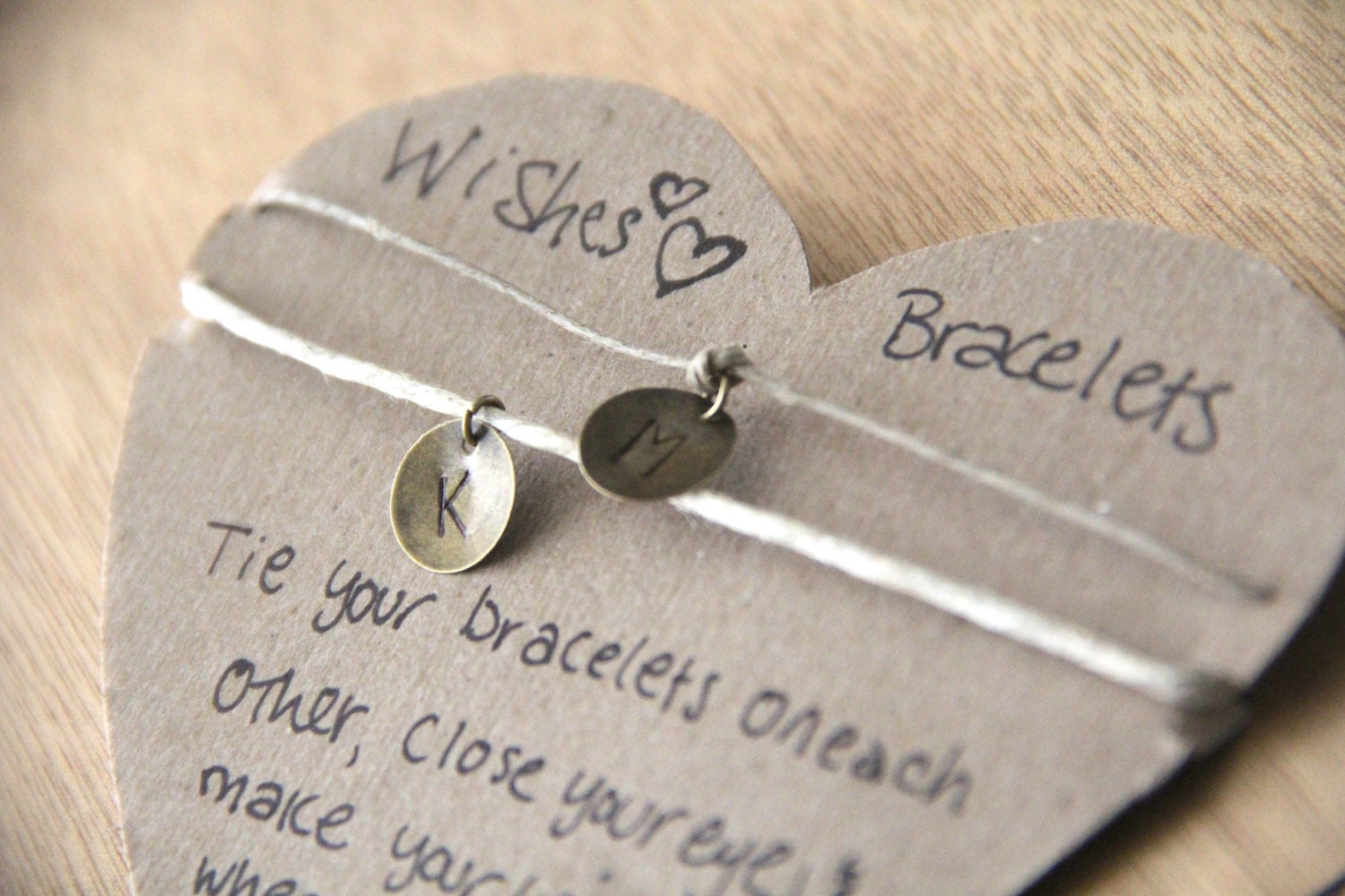 COUPLES BRACELETS 2 matching bracelets I Love You by ...