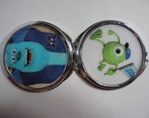 Monsters University  Disney  mirror compact 2 sided Sulley Mike