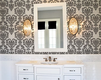 Damask Wall Stencil Reusable