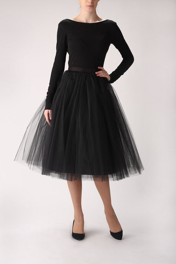 Black Tulle Skirt Halloween Goth Steampunk Pink Bride of Dracula size 4 - Find this Pin and more on Skirt by Dee Cormie. Long black tulle skirt with black and white striped, off the shoulder knit.