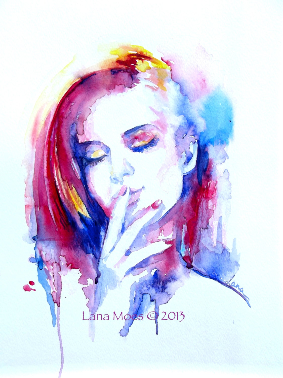 Abstract watercolor face images for How to paint abstract with watercolors