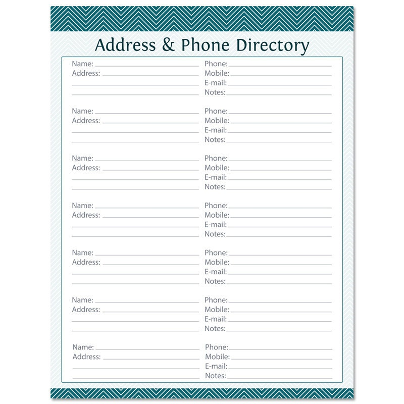 directory booklet template - address book template fillable bing images
