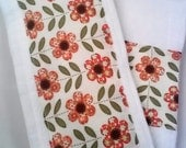 Burp Cloths for Baby set of 2, Floral Style Burp Cloths, Baby Shower Gift, Floral Baby Gift