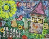 "Mixed Media - ""Home is where your mom is"" ORIGINAL 14x11"