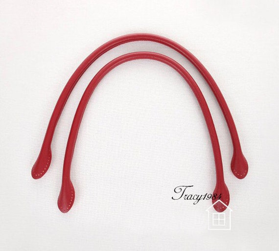 1 Pair 22 inch Synthetic Leather Purse Straps (Red) W003
