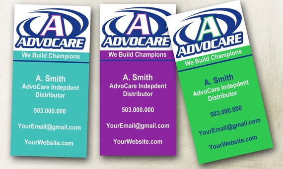 AdvoCare Business Cards Colorful