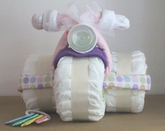 Diaper Cake Girl Tricycle