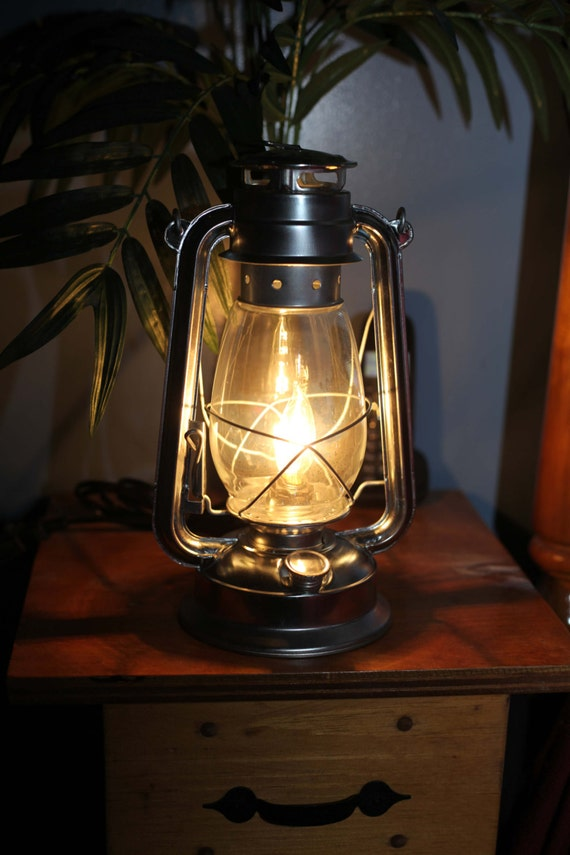 Electric Hurricane Lantern SILVER With CLEAR By