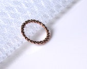 Modern Rose gold twisted stack ring - Everyday jewelry