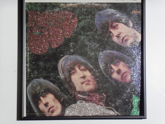 Glittered Record Album - The Beatles - Rubber Soul