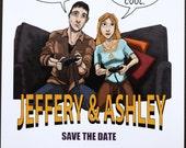 Comic Style Save the Dates - Unique, Original, Customized
