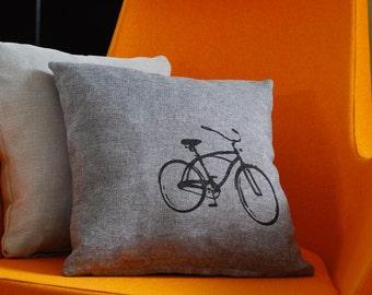 Vintage Bicycle Pillow Case ON SALE