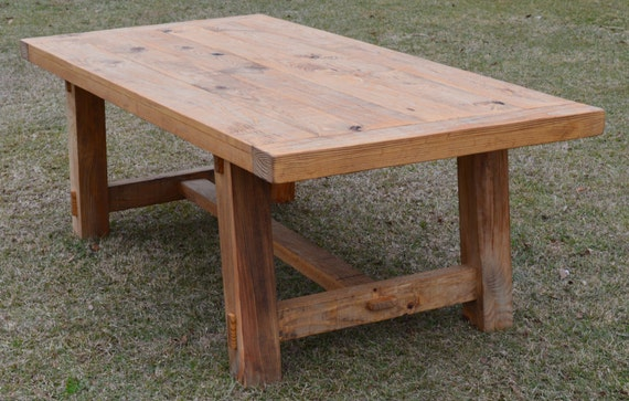 Farmhouse Trestle Table Dining Table shipping included