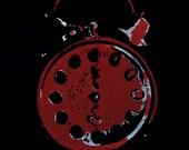 Alkaline Trio Goddamnit Clock Art -- Custom Colors Available