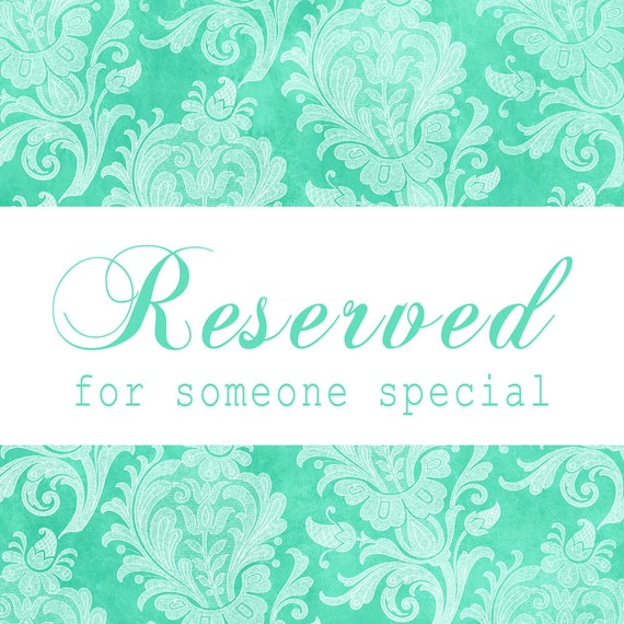 Reserved Listing for Hope