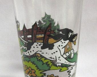 Sweet Little glass Swanky Swig made in france Cartoon Dogs