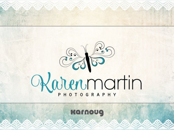 One of a kind, Custom, Premade, Butterfly Logo Design, Photography Logo