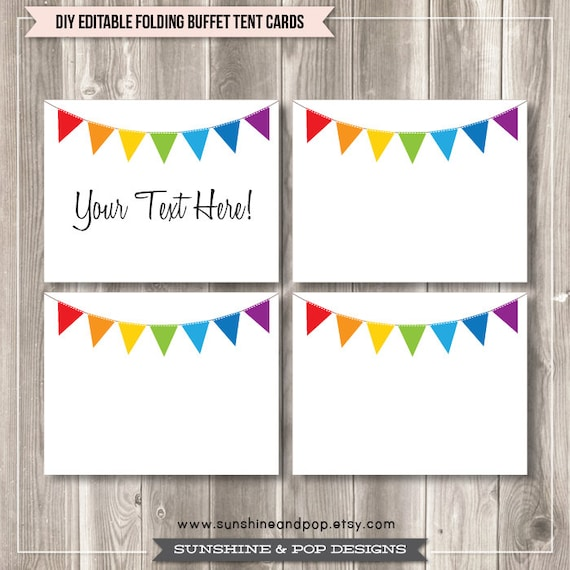 Items Similar To Instant Download Editable Rainbow Party