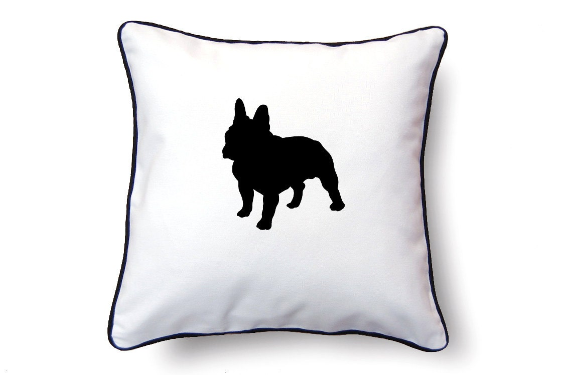 Bulldog Silhouette Pillow Bulldog Silhouette Pillow