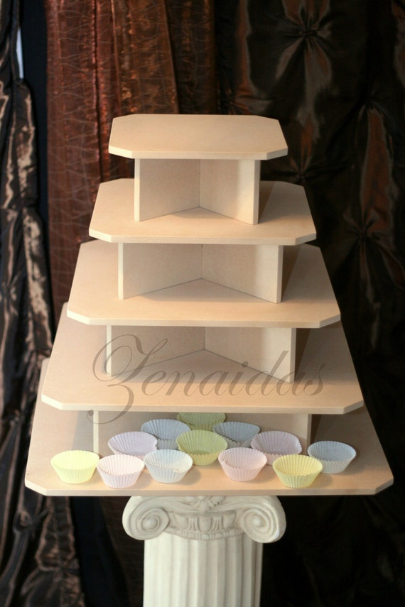 Cupcake Stand 5 Tier Xtra Large Square Mdf By