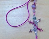"""BEYOND CUTE x2- 2 Small """"Lucky Lizard"""" Lanyards for Denny"""