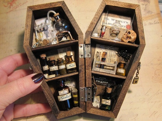 Miniature Coffin Shadow Box Dr Westly S Laboratory
