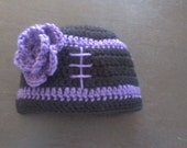 Baby Girl FootBall Hat Pick Your Team Colors