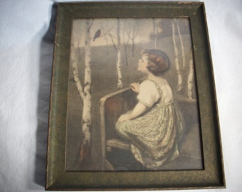 Spring Song by artist Simon Glucklich Print in original frame