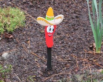 Vegetable Garden Marker - Calvin Caliente the Red Chili Pepper