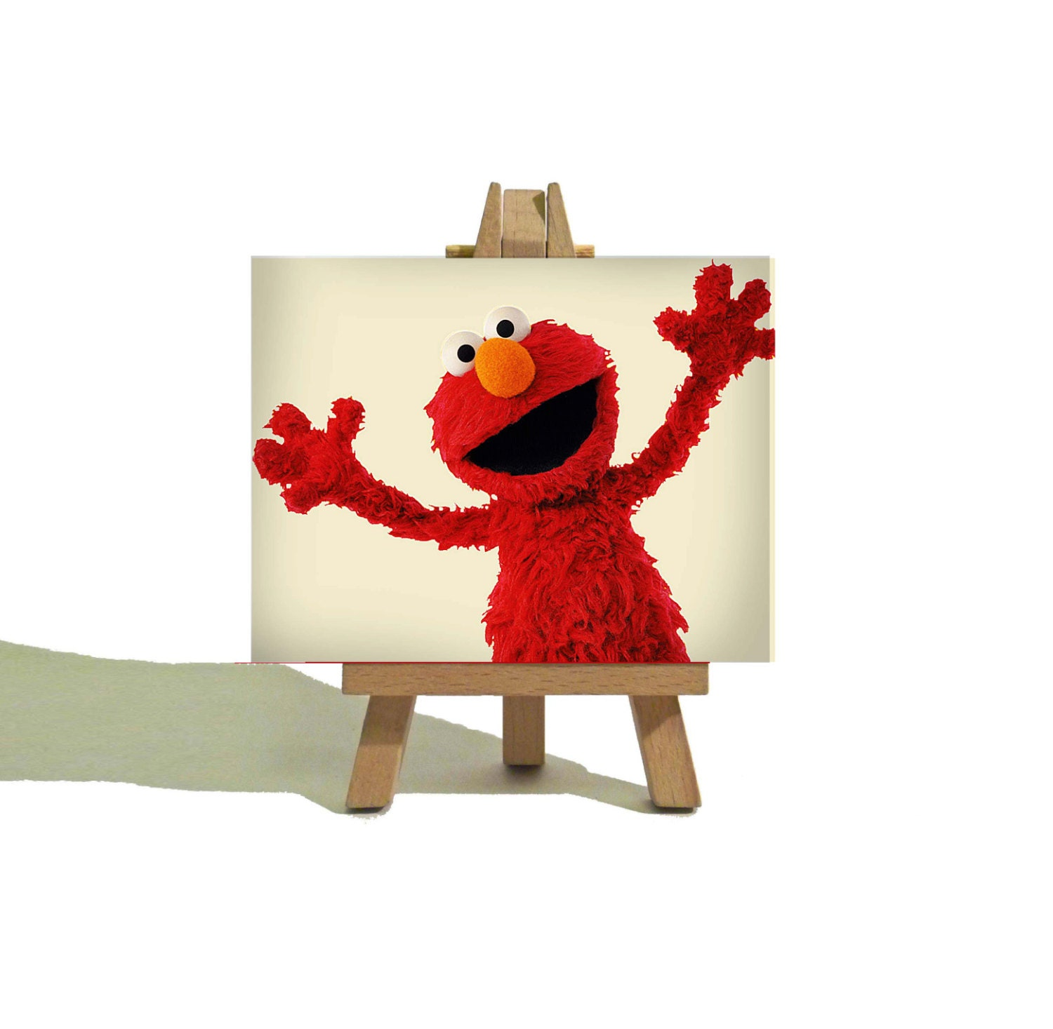 TICKLE ELMO Awesome Miniature Canvas And Easel Set The