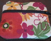 """4""""x3"""" zippered wool & fabric pouch RESERVED for Rachel"""