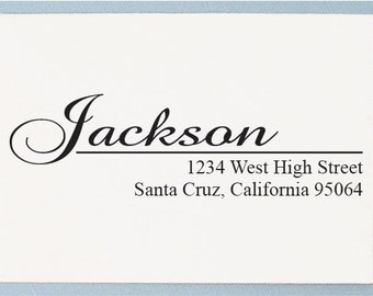 Calligraphy Address Stamp - Custom Return Address Stamp - Personalized Address Stamp - AS22