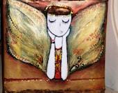 originally painted                          Fairy  Dreamer  Acrylic -mixed 20x20 cm ...