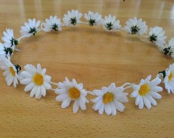 Silk Daisy Crown // Full