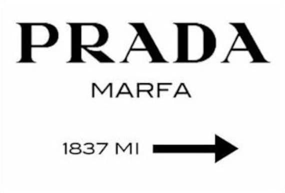 prada marfa inspiriert print 60 x 45 auf stretched von stylecorner. Black Bedroom Furniture Sets. Home Design Ideas