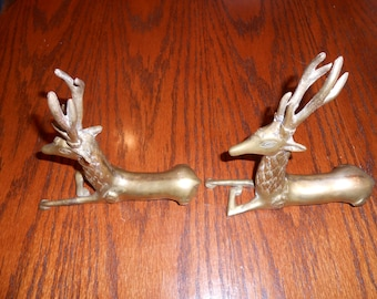 Solid Brass Stag Deer