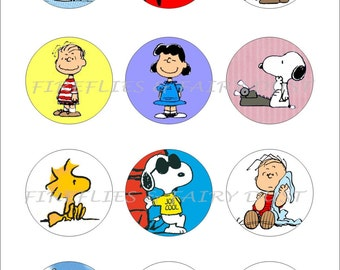 Snoopy Vol 2 Digital 4x6 1 inch Collage Sheet for Scrapbooking, Cupcake Toppers, Bottle Caps, Invitations and More