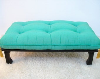 Vintage Hollywood Regency Asian Style Low Bench Mid Century Modern