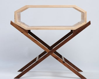 Invader Nightstand or Side Table Without Doors