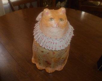 Pretty Paper Mache Cat