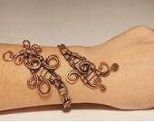 copper cuff bracelet  wire wrapped jewelry handmade copper jewelry wire wrap jewelry copper bracelet