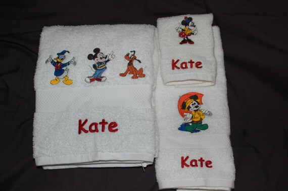 TWO 3 Pcs Towels Sets for the kid in all of us     (6 pcs. total) 2 Bath, 2 Hand, 2 Face towel