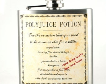Harry Potter Muggle Polyjuice Flask- Potions Unique gift for Potter fans